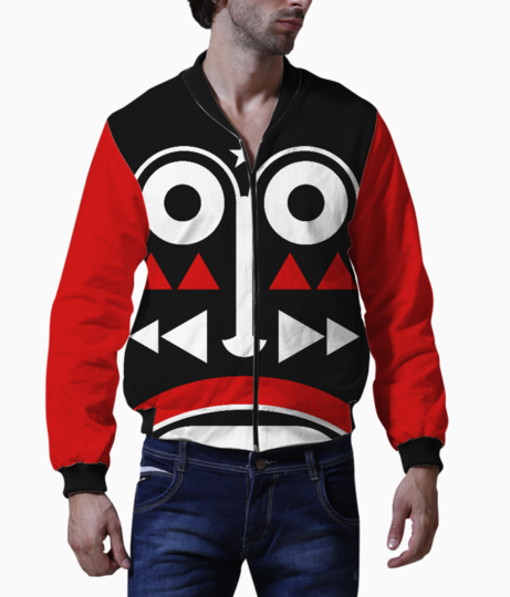 African monk mask bomber front