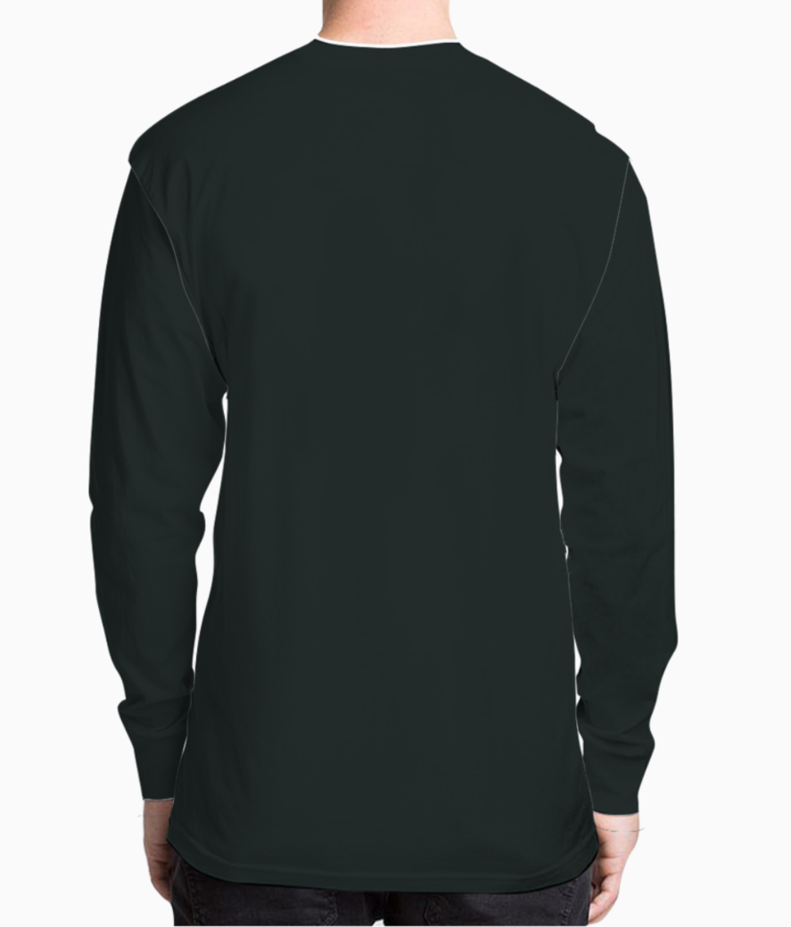 Child face on crumpled paper henley back