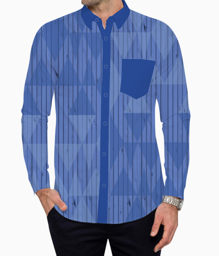Background blue shaded pattern basic shirt front