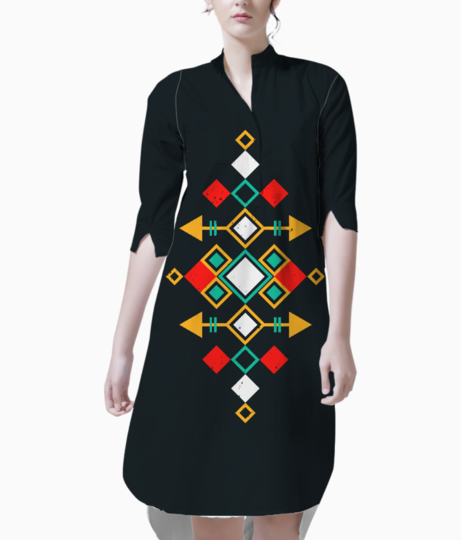 Mexican aztec kurti front
