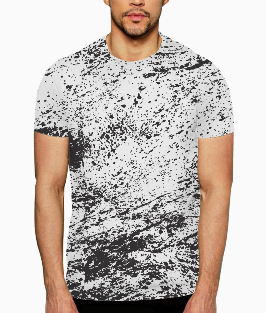 J j splatter art t shirt front