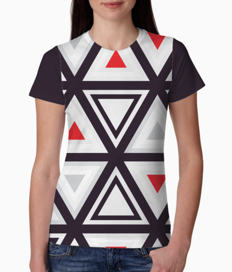 Geometry triangle tee front