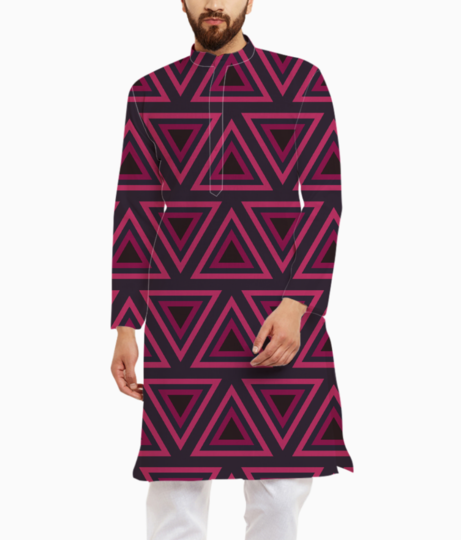 Tribal triangle kurta front