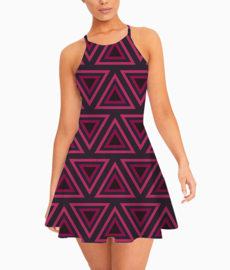 Tribal triangle summer dress front