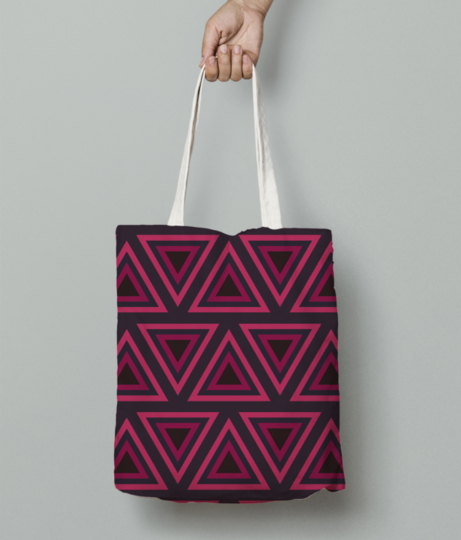 Tribal triangle tote bag front