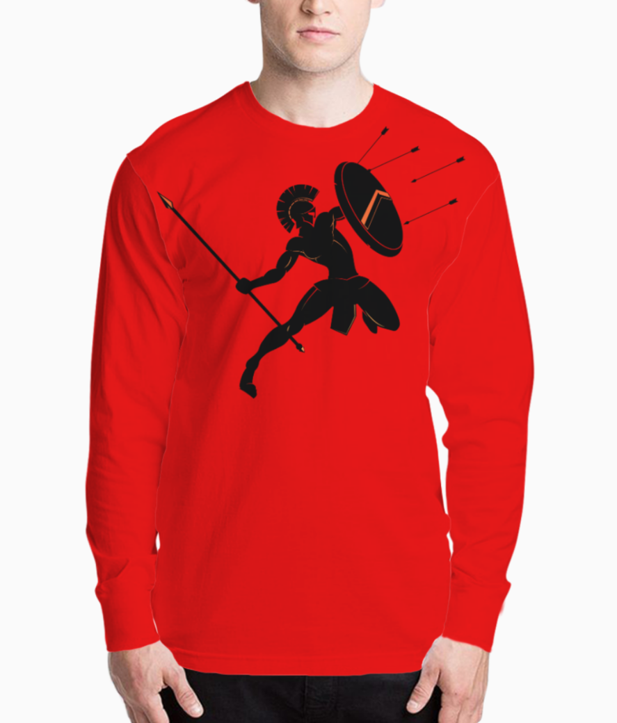 Spartan warriors spear battle henley front