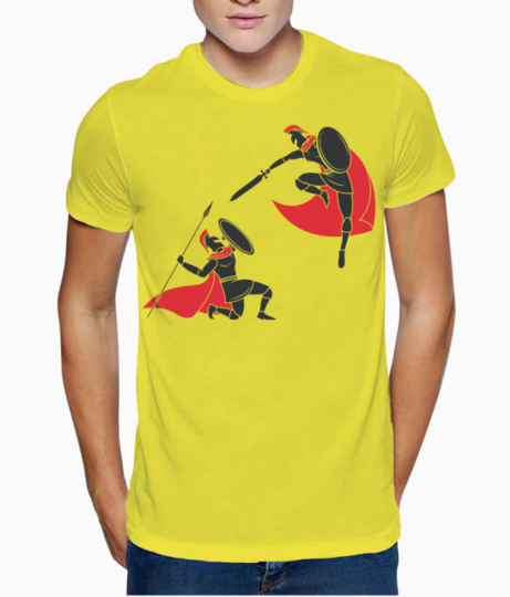 Spartan one on one battle t shirt front
