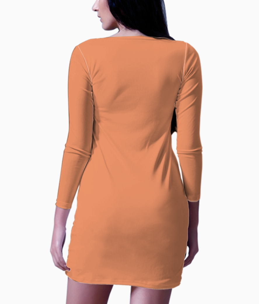 Abstract figures bodycon dress back