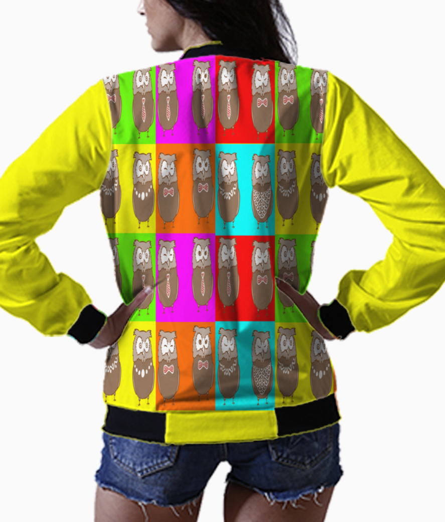 Wisdom in colors bomber back