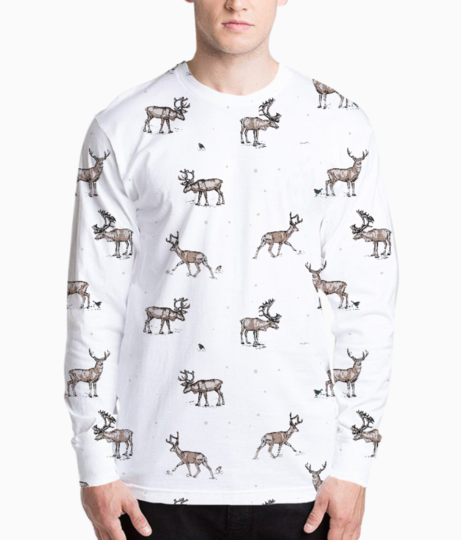 Conversational festive christmas reindeer stag country festive 01 henley front