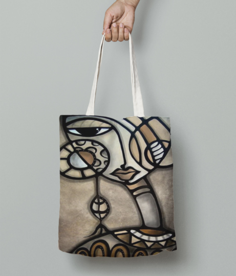 Africal girl tote bag front