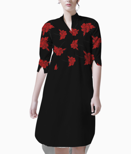 Flowers 01 kurti front