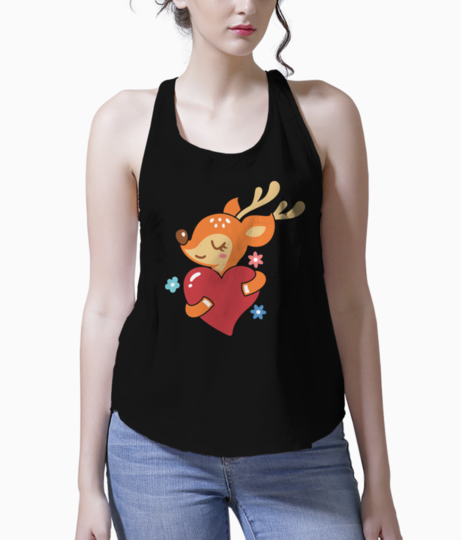 Reindeer in love tank front