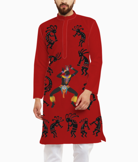 Ethnic red kurta front