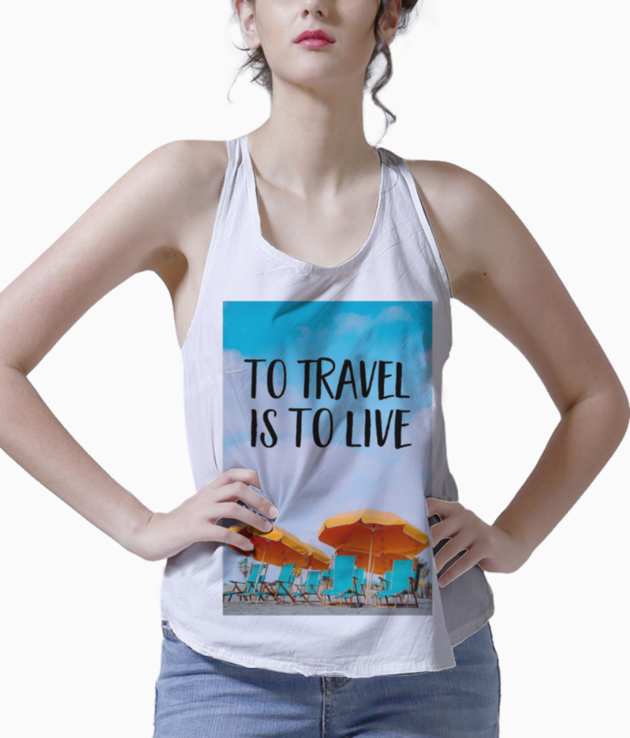 Inspirational quotes tank front