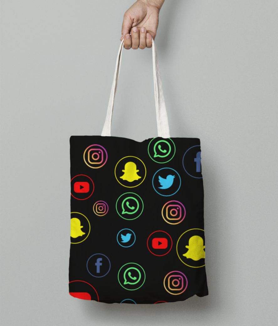 Icons tee tote bag front
