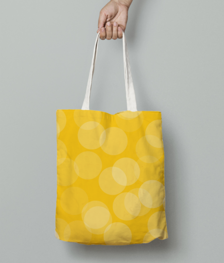 Circle design tote bag front