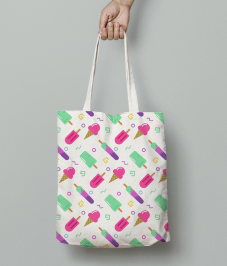Popsicle fun tote bag front