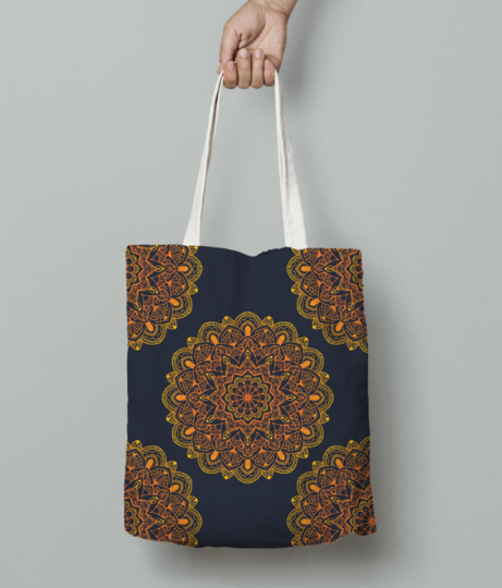 Mandala colour pattern 01 01 tote bag front