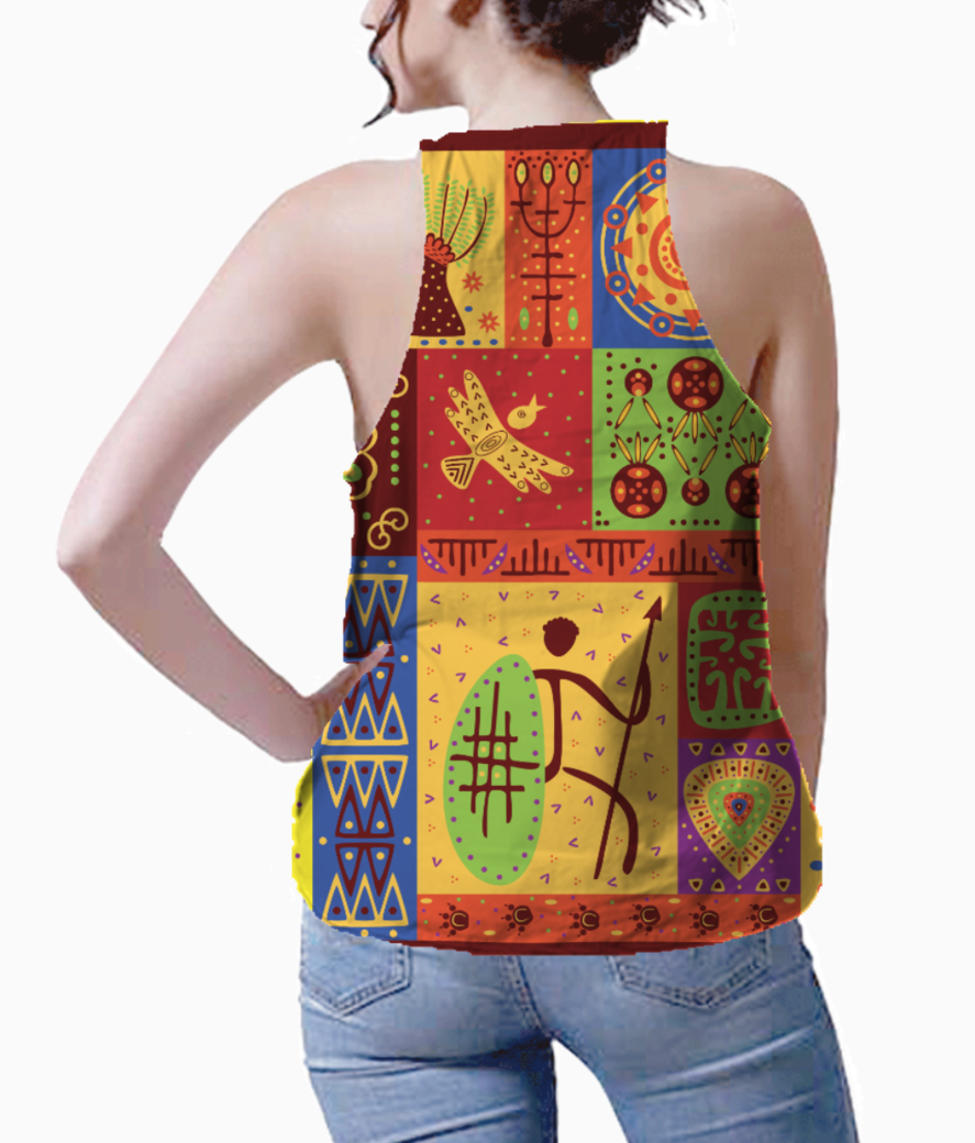 Tribal pattern tank back