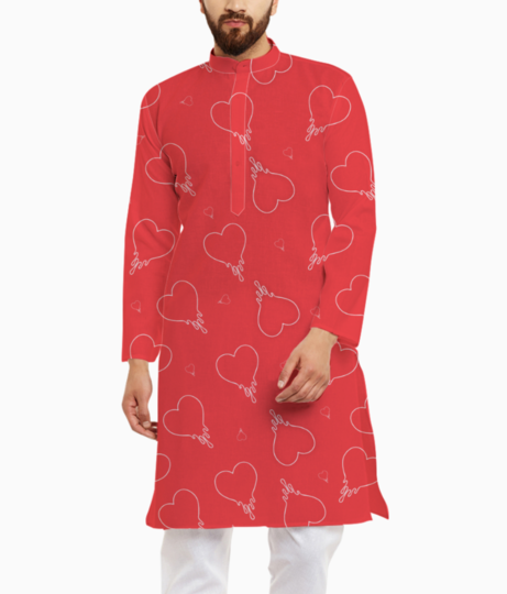 Dripping in love kurta front
