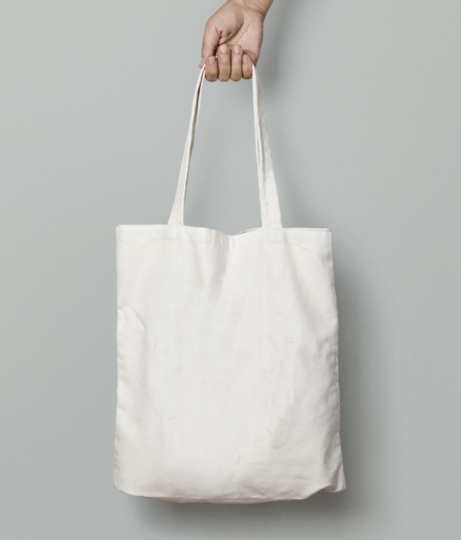 Egg toast tote bag front