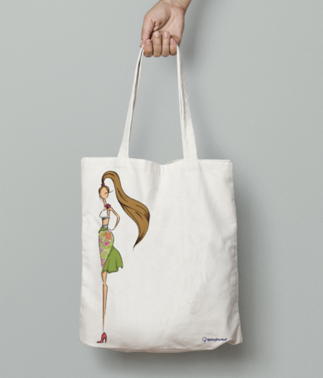 Summer tote bag front