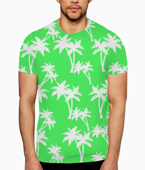 Hello palm trees t shirt front