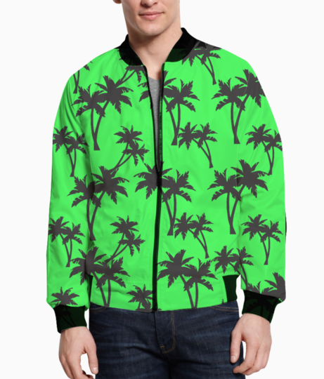 Summer green bomber front