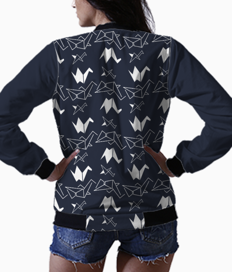 Abstract flock bomber back