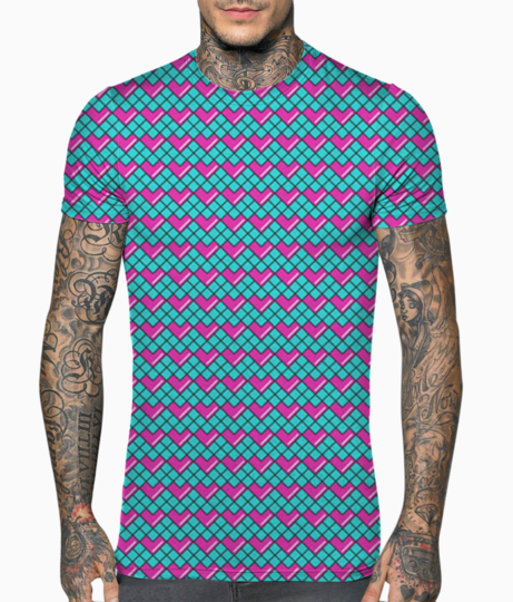 Structured heart t shirt front