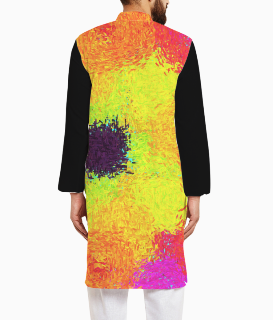 Color kurta back