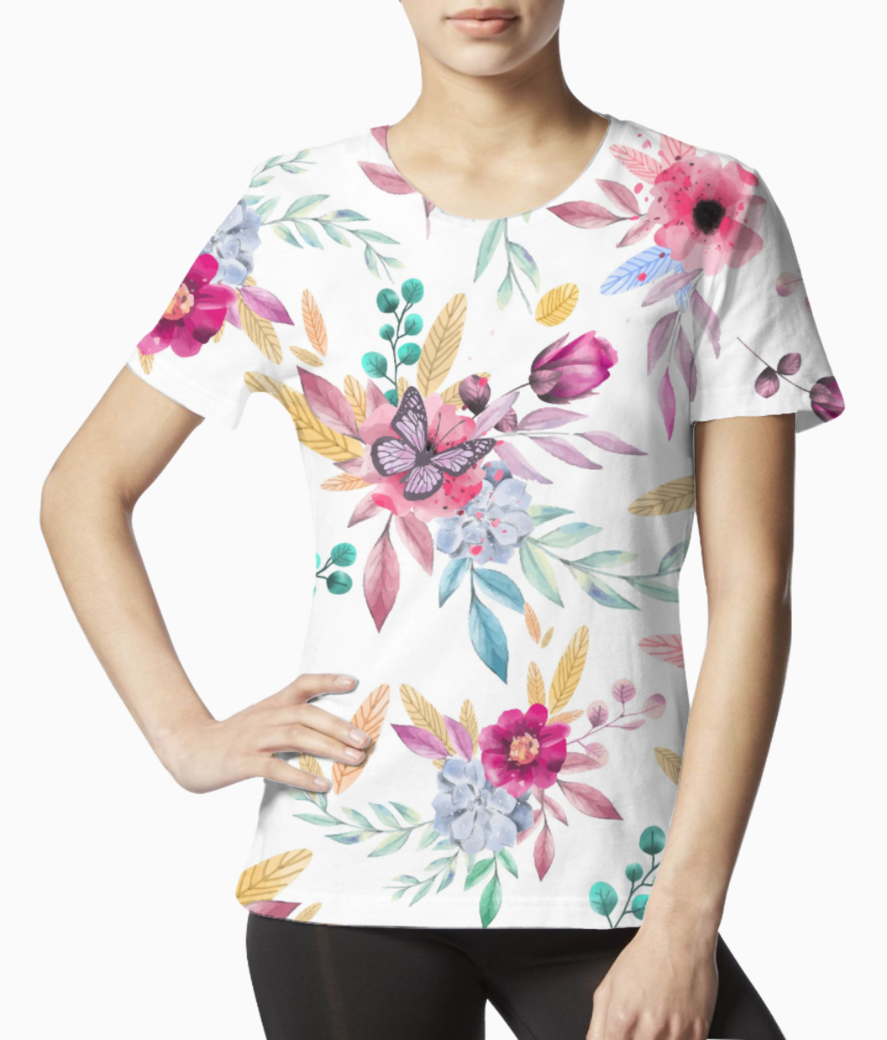 Floral 1 tee front