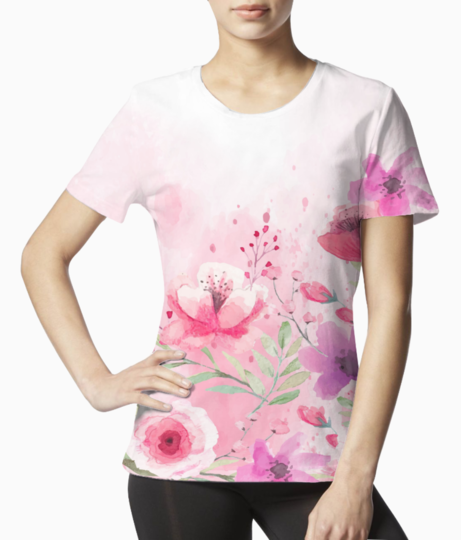 Floral 10 tee front