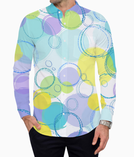Circle pattern basic shirt front