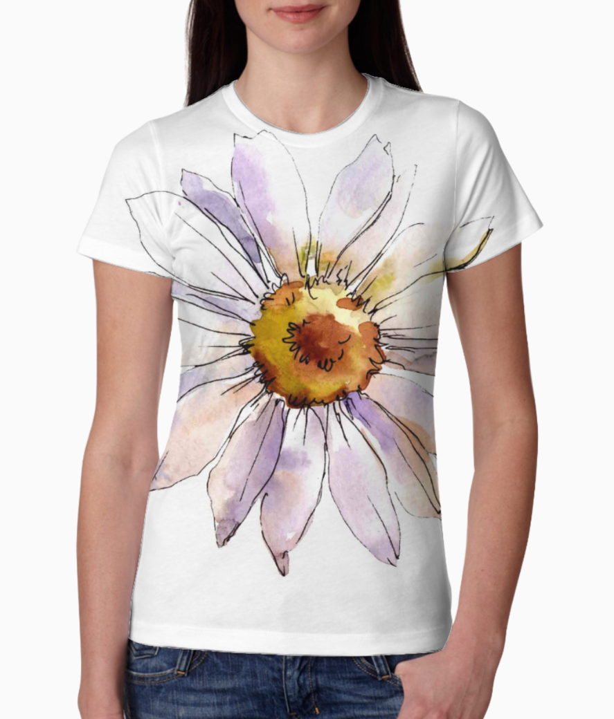 Stock photo daisy flower floral botanical flower isolated daisy illustration element wild spring leaf 1237223683 tee front