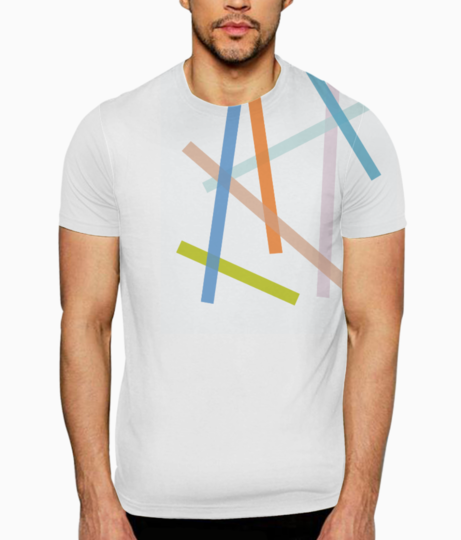 Abstract lines t shirt front