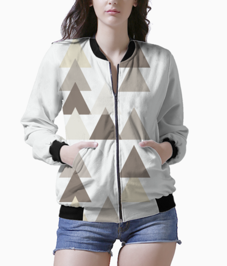 Triangle background 8 bomber front