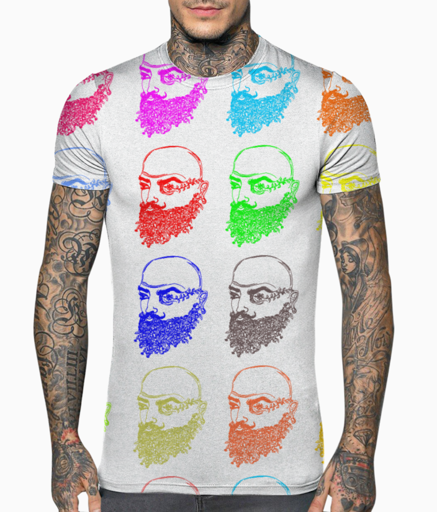 Beard man natural growth t shirt front
