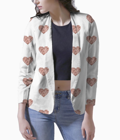 Origami heart placement blazer front