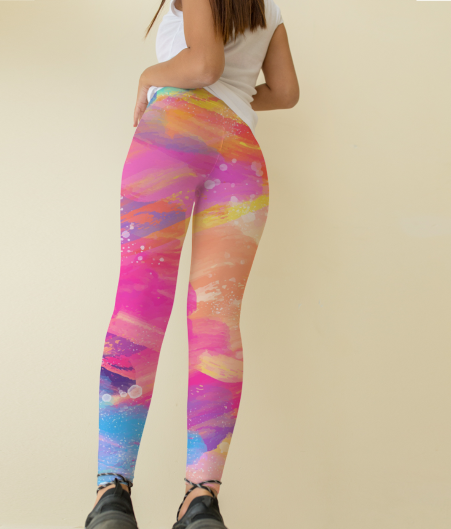 Splash leggings back