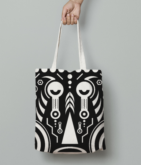 African tattoo tote bag front