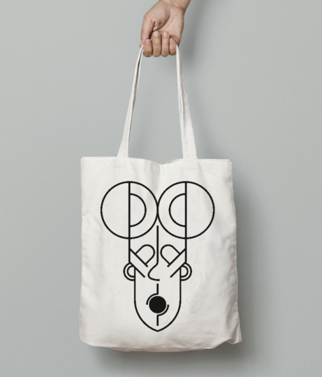 Mayan face tote bag front