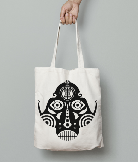 Inca tattoo tote bag front