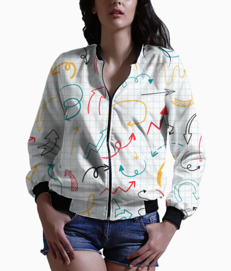 Arrow pattern bomber front