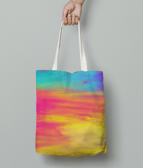 Colour shades tote bag front