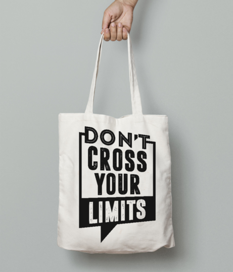 Dont cross limits tote bag front