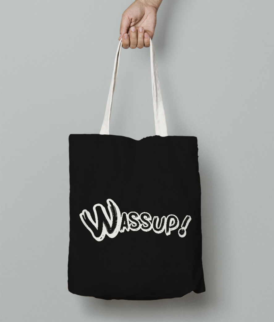 Wassup letters tote bag front