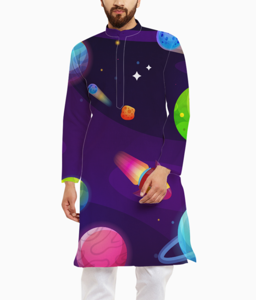 Space buddy kurta front