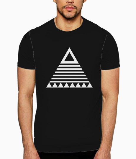 Triangle tribal t shirt front
